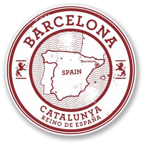 2 x Barcelona Catalunya Spain Vinyl Sticker Laptop Travel Luggage Car #5723