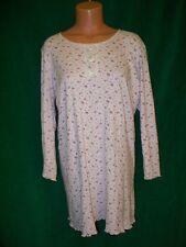 Ashley Taylor soft pink floral print knit short gown/sleepshirt sz M bust 46-48