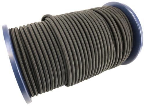 10mm x 50m Noir caoutchouc résistant corde Élastique Bateau Bâche cravate