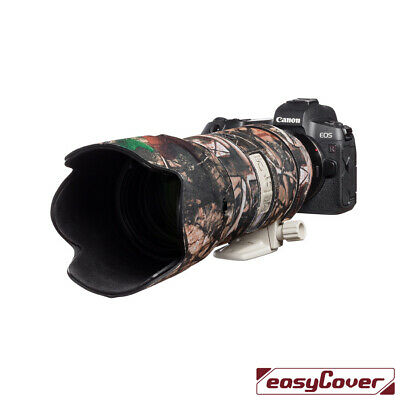 Canon 70 300mm L IS Neoprene lens protection camouflage cover Green camo