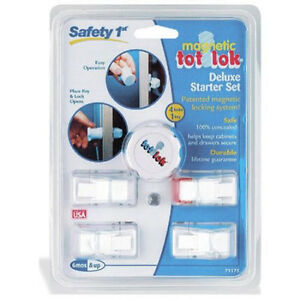 Safety-1st-Magnetic-Tot-Lok-Complete-Set-4-Locks-amp-1-Key