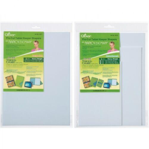 CLOVER Tablet Keepers STAMPINI-Set Grande /& assortiti Set Craft Strumento