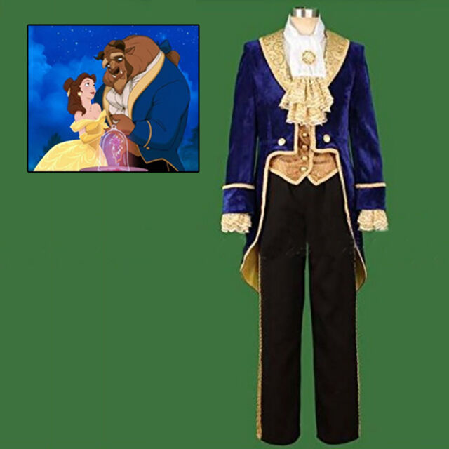 US!Beauty and the Beast Prince Tuxedo Halloween Cosplay Fancy Costume Men Outfit