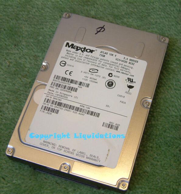 "Maxtor Atlas 10K V 73GB Ultra320 10K SCSI HDD  80 Pin Hard Drive 3.5"" Internal"