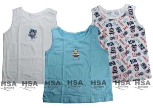 NEW Boys//Kids Thomas The Tank Engine Vests,1.5-6 Years,Blue//White,Birthday Gift