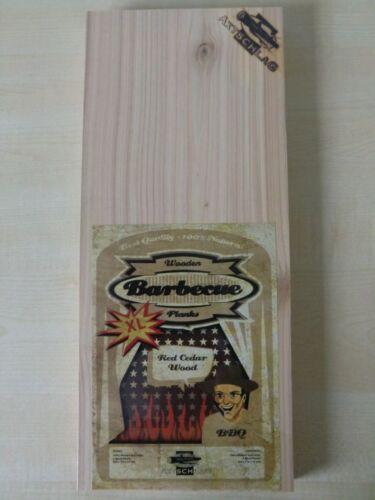 2x Axtschlag Wooden BBQ Planks XL Zedernholz Zedern 40 x 17cm Räucherbrett Grill