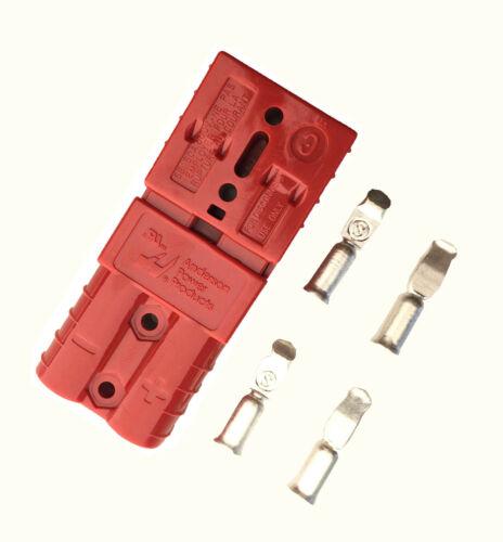 COPPIA Anderson SB50-600V Plug-Medio Terminale Cavo Connettore di alimentazione a batteria-Rosso