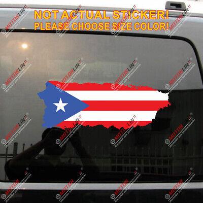 Puerto Rico Flag PR 4/'/' reflective Jesus Fish God Decal Sticker Car Vinyl