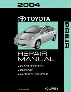 2004 toyota prius shop service repair manual volume 2 only rh ebay com 2014 toyota prius manual 2004 toyota prius repair manual pdf