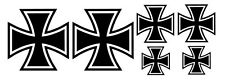 6 x Eisernes Kreuz Aufkleber Sticker IRON CROSS decal  Auto Tuning TOP KULT .