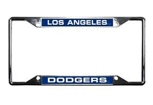 Los-Angeles-Dodgers-EZ-View-Laser-Cut-Chrome-Metal-License-Plate-Frame