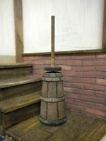 Dolls House Tudor Kitchen Butter Churn Victorian Medieval Cooking 1:12th Wooden