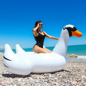 Flotador-colchoneta-Gigante-hinchable-Cisne-para-piscina-playa-diversion
