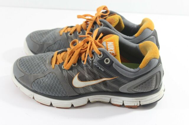 official photos e8cb8 d76ee WMNS NIKE LUNARGLIDE+2 COOL GREY WHITE ORANGE 407647-005 WOMENS US 9 red