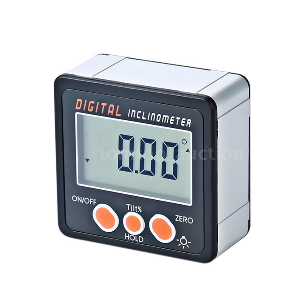 Digital Inclinometer Angle Finder Measuring Spirit Level Box LCD Display 4*90° 12