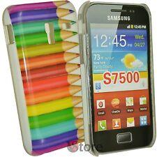 Cover Per Samsung Galaxy Ace Plus S7500 Matite Colorate + Pellicola Protettiva