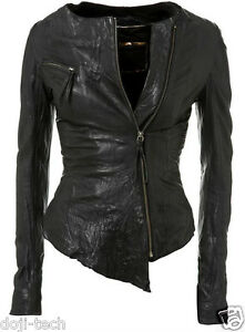 Kate-Moss-Iconic-Black-Leather-Asymmetric-Zip-Vtg-Topshop-Biker-Jacket-8-36-US4