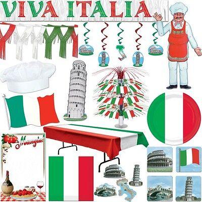 Italien Motto Party Dekoration rot weiss grün italienische Deko Set Rom WM EM