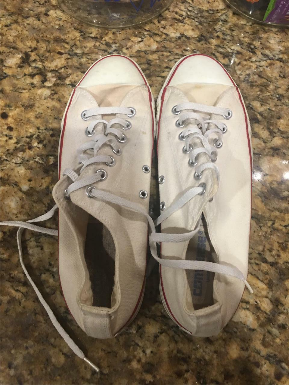 Converse All Star White Low Made Top Sneakers USA Made Low 48b495