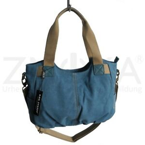 56f534811dace Das Bild wird geladen Jennifer-Jones-Canvas-Damen-Umhaengetasche-Handtasche -Schultertasche-Blau