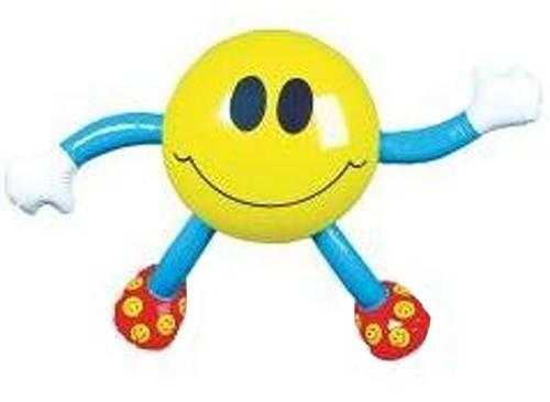 12 INFLATABLE NOVELTY SMILE FACE MAN BLOWUP TOY standing inflate play novelties