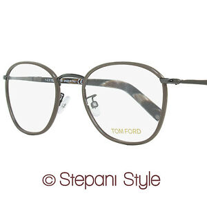 a149f1c829 Tom Ford Oval Eyeglasses TF5333 045 Size  51mm Ruthenium Brown Horn ...