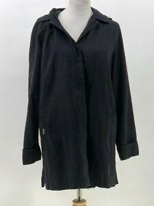 London-Fog-womens-jacket-removable-hood-faux-suede-feel-size-M