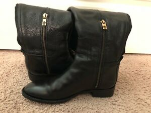 b0eea9f81e00a Image is loading Tory-Burch-tall-black-boots-size-7