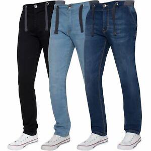 569083e02b Details about Kruze Boys Straight leg fit Jeans Kids Elasticated Waist  Drawcord Stretch Denim