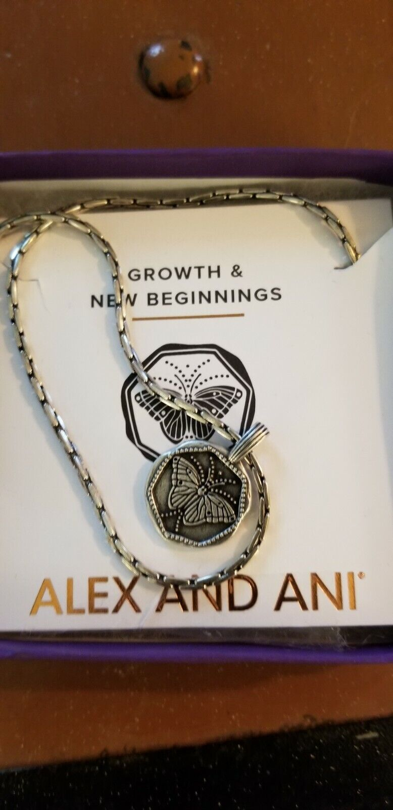 Alex and Ani Butterfly Woman Growth and New Beginnings Expandable Necklace NEW