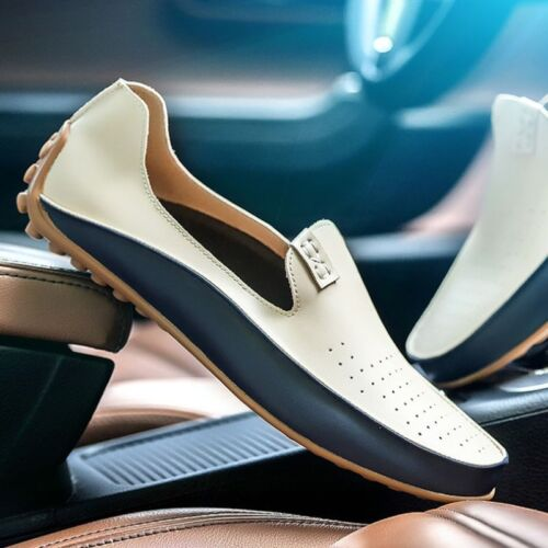 New Summer Fashion Mens Comfy Leather Flats Driving Moccasin Loafer Casual Shoes