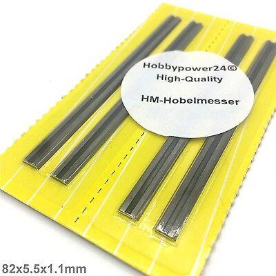 4 St/ück HM Hartmetall Wendemesser//Hobelmesser f/ür Black/&Decker B/&D 82mm//KW710//BD715