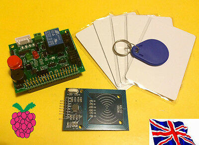 RFID HAT RFID Reader Relay Switch Buzzer Function Board Kit03 for Raspberry Pi