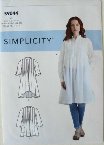 Simplicity 9044 Misses Tunics Tops With Tucks Variations Sewing Pattern Sz 16-24