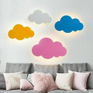 Details About Wall Mounted Light Lamps Kids Bedroom Led Bulbs Lighting Cloud Design Lamp
