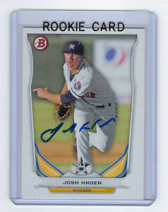 2014-BREWERS-Josh-Hader-signed-ROOKIE-card-Bowman-TP45-Autographed-AUTO-RC