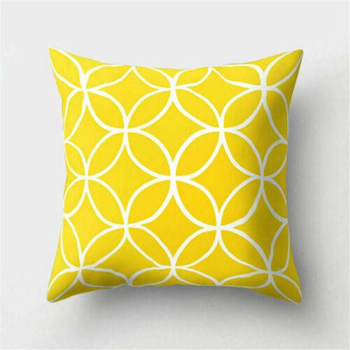 Soft Cotton Linen Pillow Case Sofa Car Waist Throw Cushion Cover Home Decor