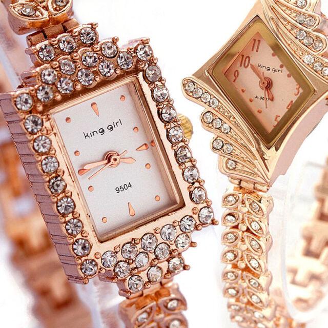 Fashion Women Luxury Rhinestone Crystal Quartz Wrist Watch Party Dressy