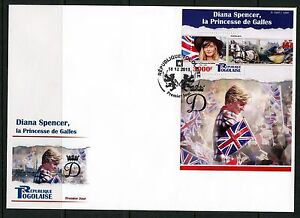 TOGO 2015 DIANA SPENCER, PRINCESS OF WALES SOUVENIR SHEET FDC