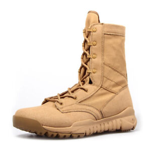 Mens Women Suede Durable Tactical Boots Ultralight Army Combat Desert Boot Shoes