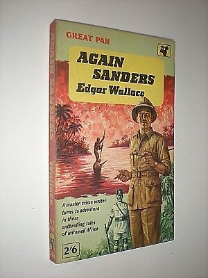 Openhartig Again Sanders. Edgar Wallace. 1963 Great Pan Paperback Edition