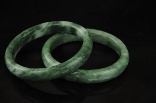 Natural Chinese jade hand-carved bracelet,beautiful bangle 61mm