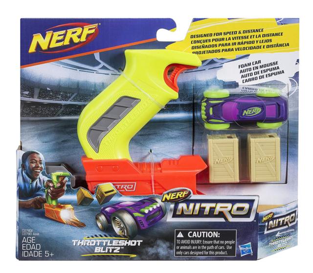 Nerf Espuma throttleshot Blitz Coche Nitro y lanzador-C0783
