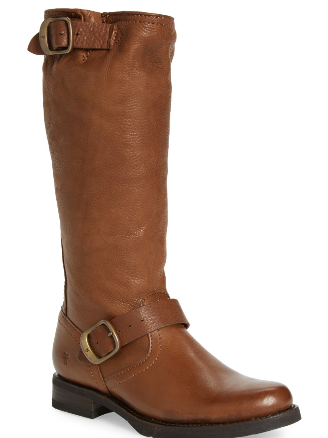 NEW Frye Veronica Slouch Boot color COGNAC Sz 7.5M New in Box  368 Free Shipping