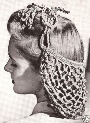 Vintage Crochet Pattern To Make Beaded Snood Hairnet Hair Net Ebay