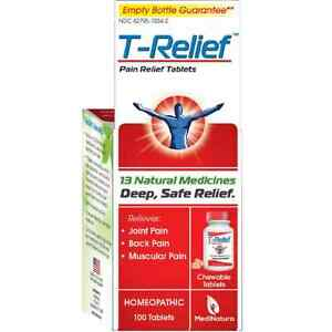 Details about T-Relief Pain Relief 13 Natural Medicines Tablets 100 ea