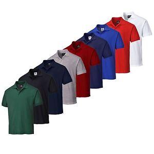 Portwest-Naples-Polo-Shirt-Short-Sleeve-Premium-Workwear-Casual-Sports-B210