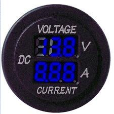 Vw T4  Camper Van Blue Voltmeter Voltage Amp Meter Gauge Leisure Battery 6>30 V