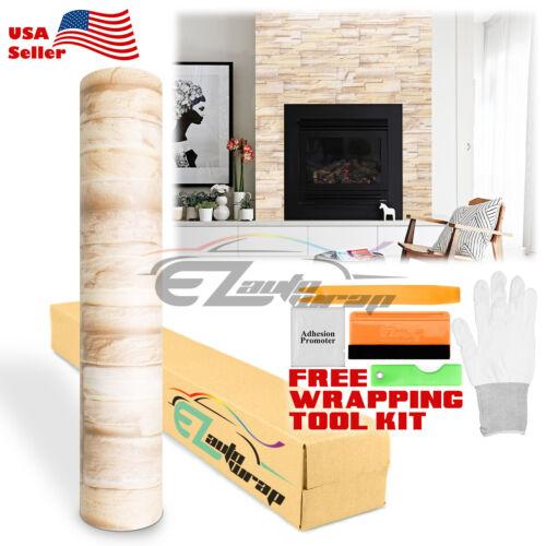 *3D Faux Brick Stone Wallpaper Bedroom Kitchen Stone Contact Paper Vinyl Sticker