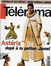 telerama n°2716 jamel debbouze mireille darc alain chabat pierre bourdieu 2002